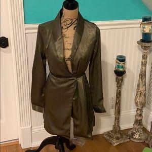 Idem Ditto Metallic Green Jacket Size Small